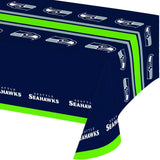 Creative Converting All Over Print Seattle Seahawks Plastic Banquet Table Cover - Chickadee Solutions