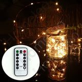 Homeleo 5M 50LEDS Battery Operated Remote Contol LED String Lights Flexible C... - Chickadee Solutions - 1