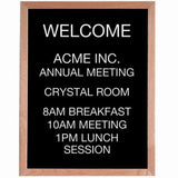 Aarco Products AOFD3024 Open Face Wood and Felt Changeable Letter Board - Chickadee Solutions