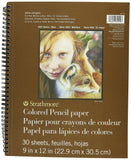 "Strathmore Colored Pencil Spiral Paper Pad 9""X12""-30 Sheets - Chickadee Solutions - 1"