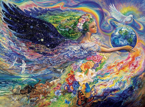 Buffalo Games Josephine Wall: Earth Angel - 1000 Piece Jigsaw Puzzle by Buffa... - Chickadee Solutions - 1