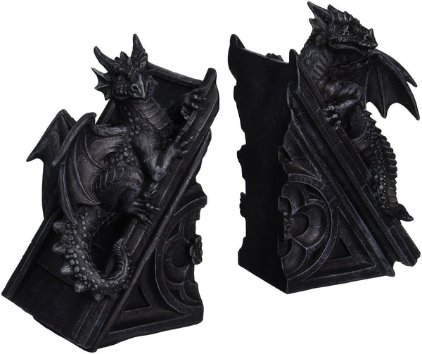 Design toscano gothic castle dragons sculptural bookends chickadee solutions - Gothic bookends ...