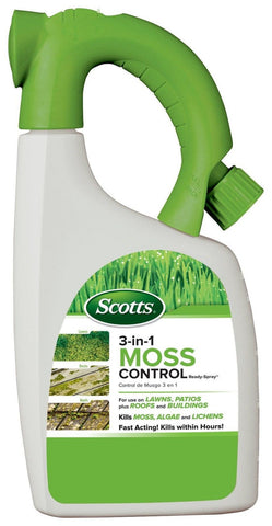 Scotts 3-in-1 Moss Control Ready-Spray 32-Ounce - Chickadee Solutions