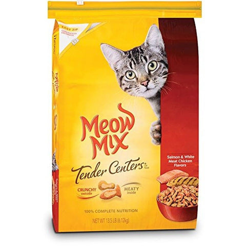 Meow Mix Tender Centers Flavor Dry Cat Food Chicken/Salmon 13.5 lb - Chickadee Solutions