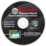 Password Reset Recovery CD Disc for Windows Vista Home Premium 32-Bit & 64-Bi... - Chickadee Solutions