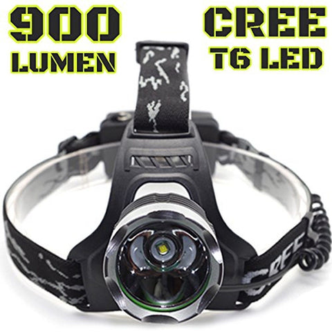 900 LUMEN Head Lamp | XM-L T6 CREE LED | 3 Modes | Water Proof | DOES NOT INC... - Chickadee Solutions - 1