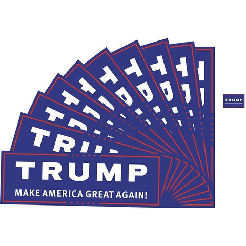 "10 Packs Donald Trump Make America Great Again Bumper Sticker (3x9"" ) & 10 Pa... - Chickadee Solutions - 1"