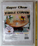"100% Vinyl Super Clear and Durable Tablecloth Protector Size 54"" X 72"" Oval - Chickadee Solutions - 1"