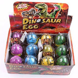 EH Pack of 12 Easter Eggs Color Crack Dinosaur Dragon Hatch & Grow Eggs - Chickadee Solutions - 1