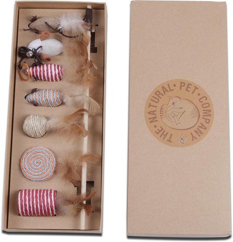 The Natural Pet Company Cat Toys Collection in Gift Box - Chickadee Solutions - 1