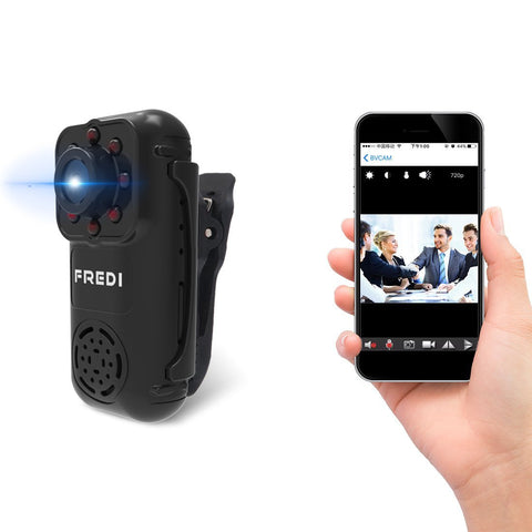 FREDI Motion activated mini hidden camera 720p HD mini wifi camera spy camera...