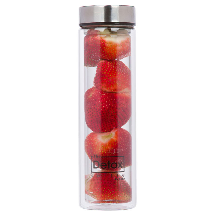 Double Walled Glass Water Bottle (with strainer)
