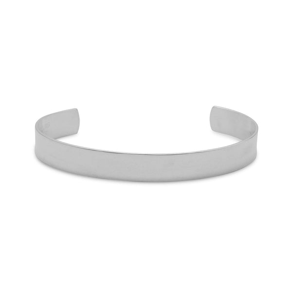 9.5mm Polished Cuff Bracelet