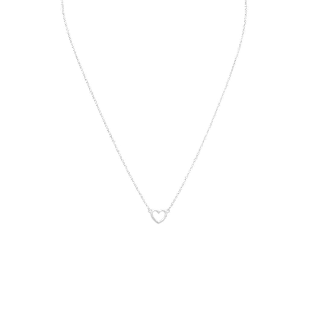 Matte Cut Out Heart Necklace
