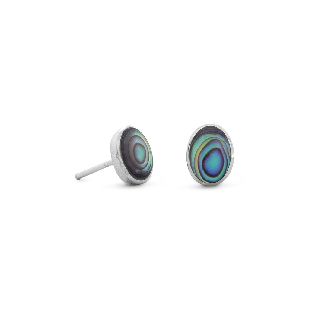 Abalone Shell Stud Earrings