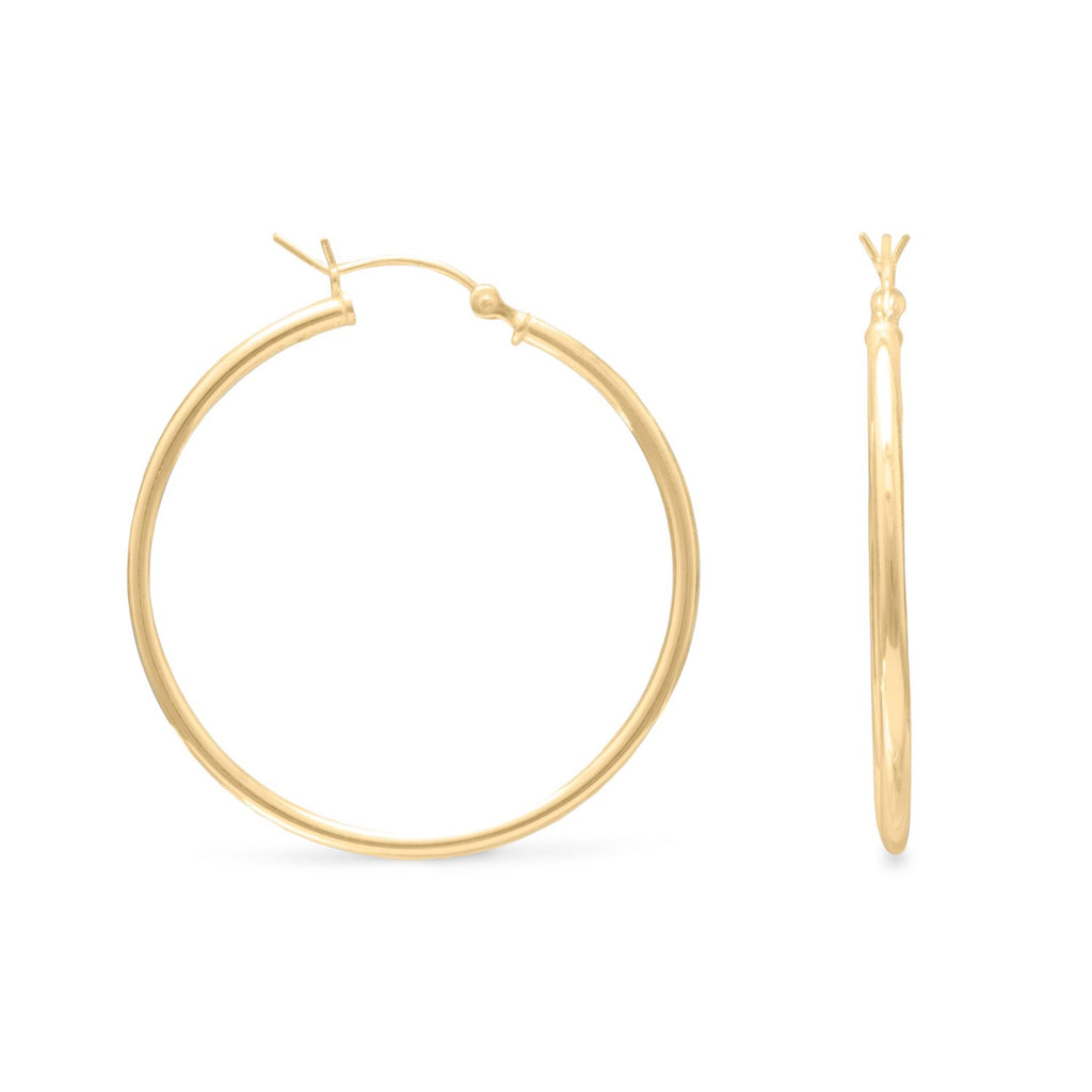 2mm x 40mm Gold Plated Click Hoop