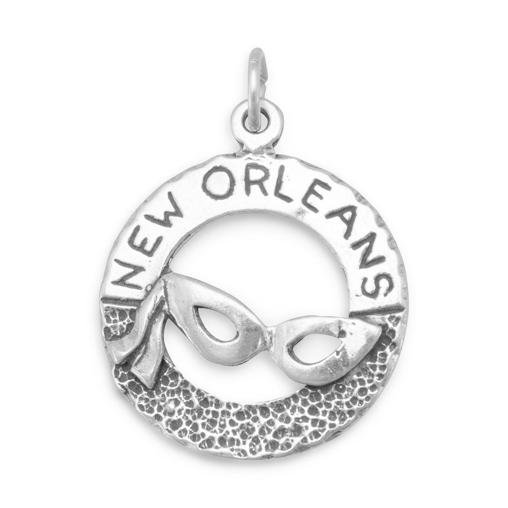 New Orleans with Mardi Gras Mask Charm