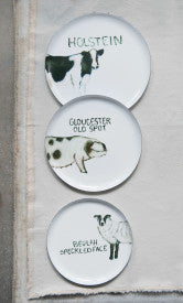 Round Tin Trays with Farm Animal Images (Set of 3 Sizes/Designs)