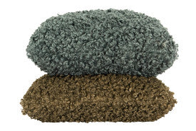 Green & Brown Square Boucle Pillow (Set of 2 Colors)