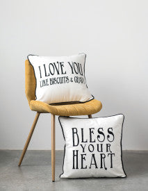 Southern Sayings Square Cotton Pillow (Set of 2 Styles)