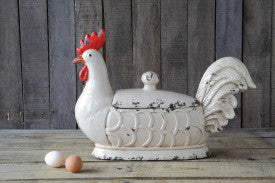 Rooster Container with Lid