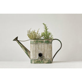 Decorative Watering Can/Birdhouse Container