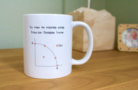 An Economist Says I Love You mugs