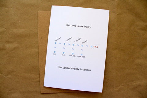 Love game theory card
