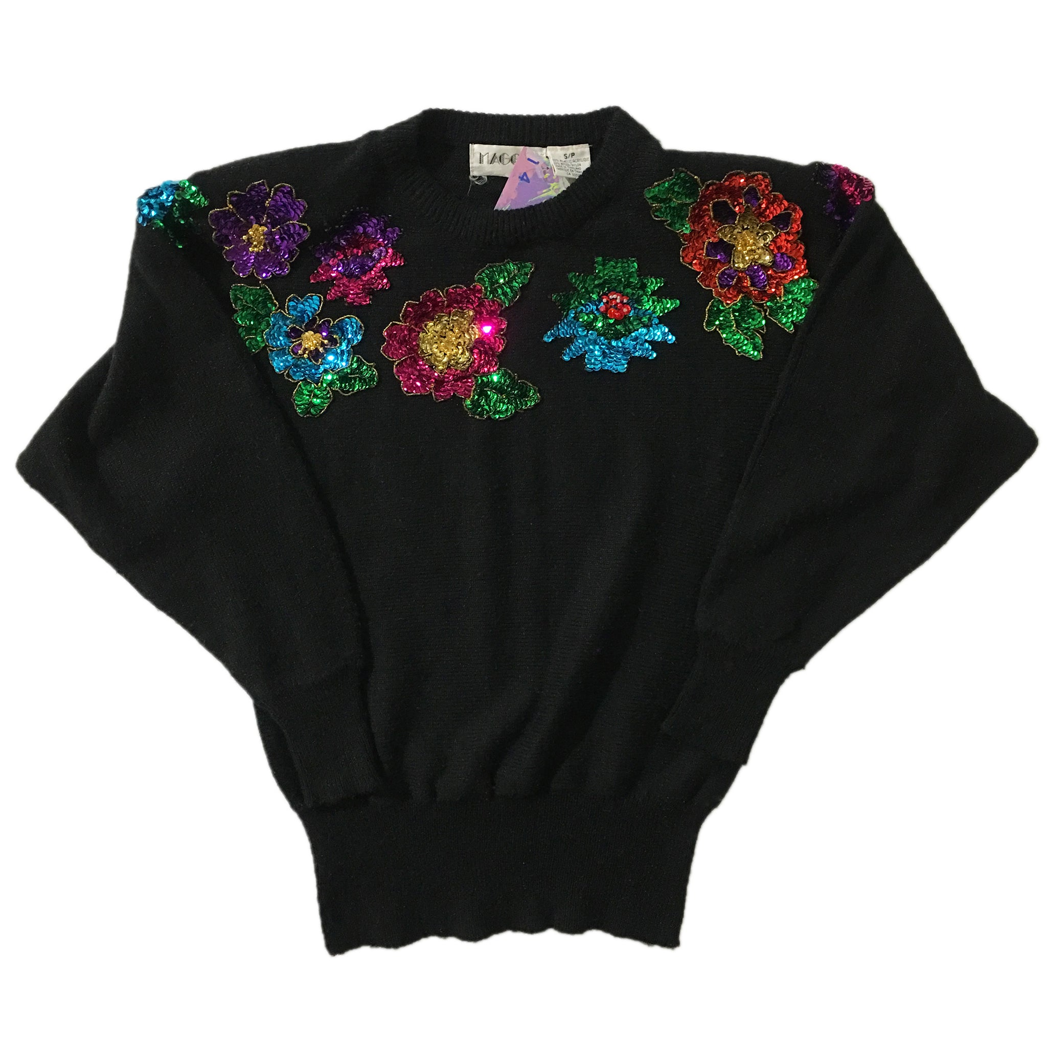 Maggie Jana 80/20 Acrylic Nylon Sequins Sweater