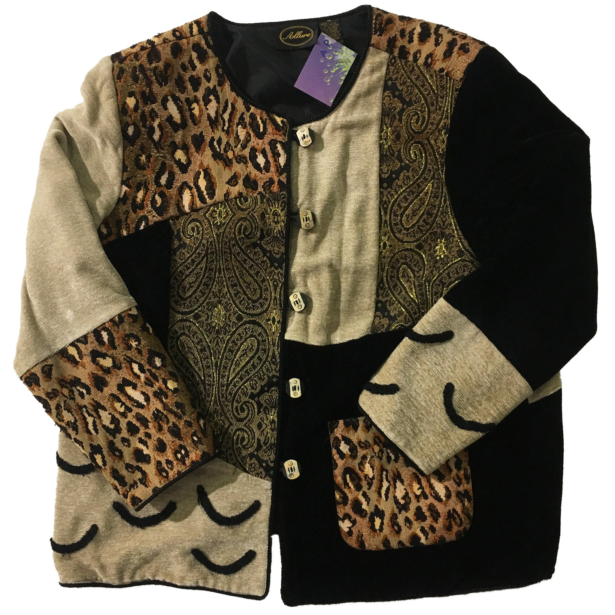Multi Pattern Cheetah Sweater