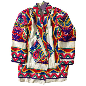 Multi Coloured Polyester Coat