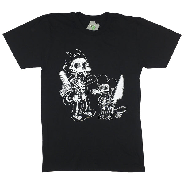 Itchy Scratchy Bare Bones And Blim Collab Tee