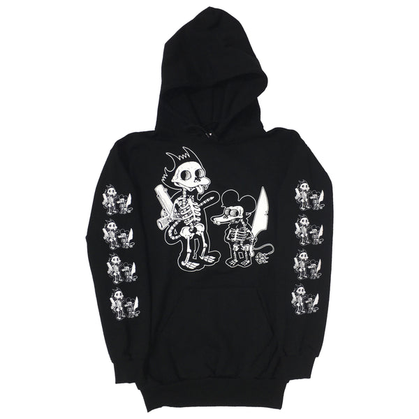Bare Bones and Blim Hoodie Collab (Black)
