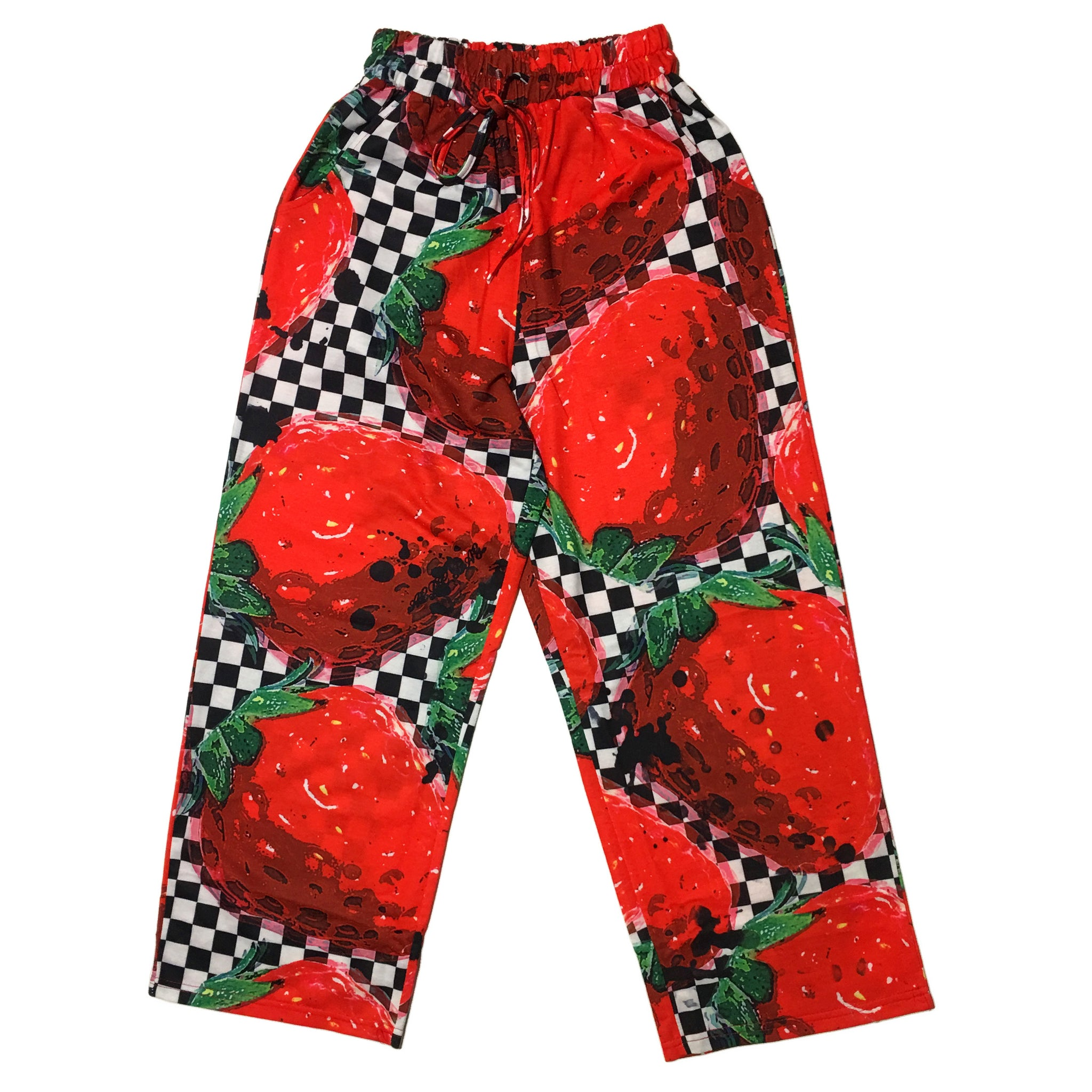 """Checkered Strawberry"" Pants by ACDC RAG"