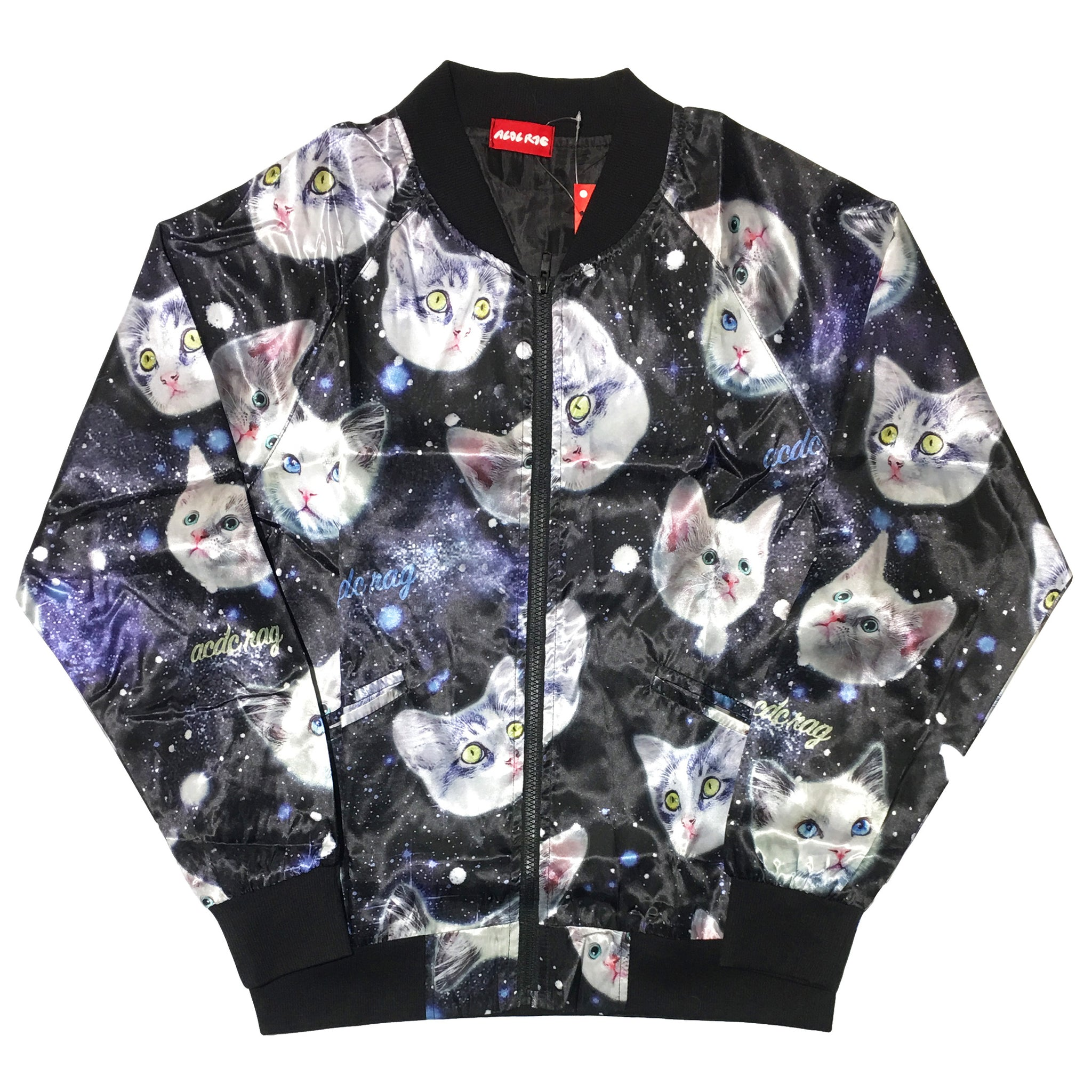 """Cat Space Head"" MA-1 Jacket by ACDC RAG"