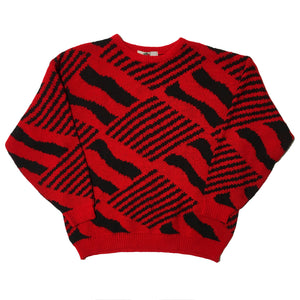 Paradis Pour Greg Red Knit Sweater