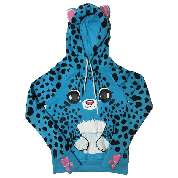 Kids SWS Blue Animal Hoodie with Ears