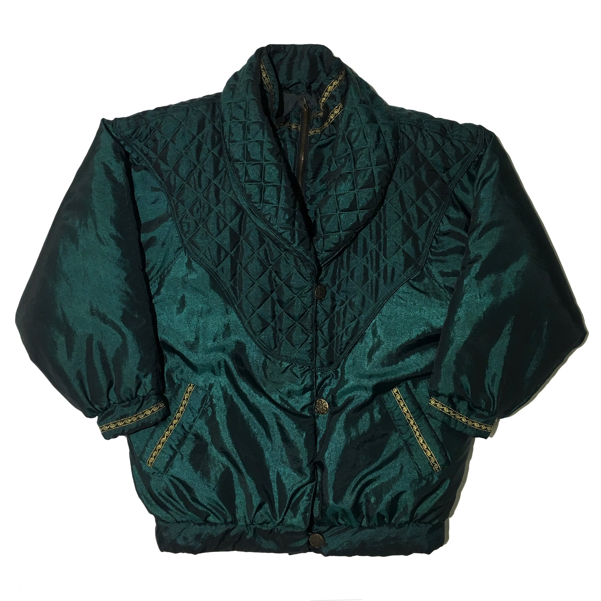 Jr + Co Satin Green Jacket