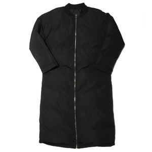 Full Length Black Bomber Coat