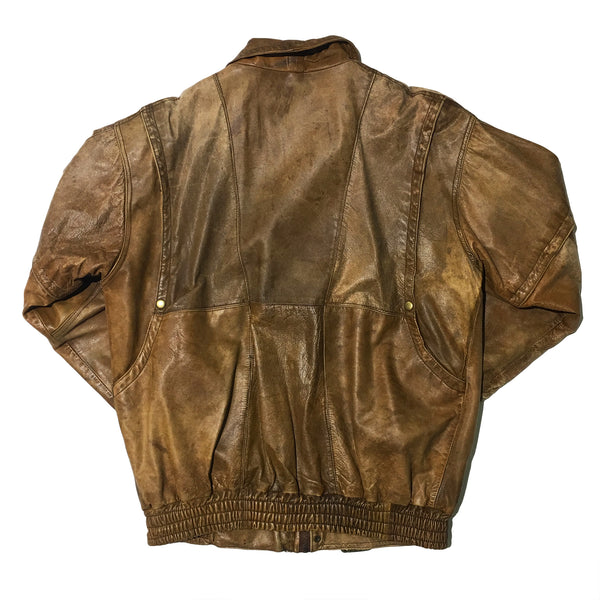 Brown Distressed Leather Jacket
