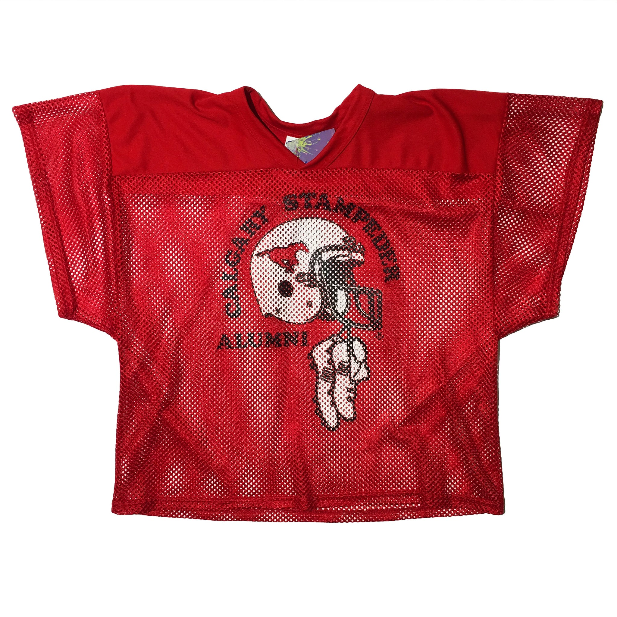 Athletic Knit Red Calgary Stampeder Alumni Jersey