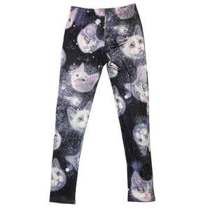 """Cat Space Head"" Leggings by ACDC RAG"