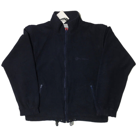 Sergio Tacchini Navy Fleece Gore Wind Stopper Jacket W/ Removable Sleeves