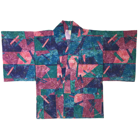 Teal, Blue, and Peach Fragment Haori