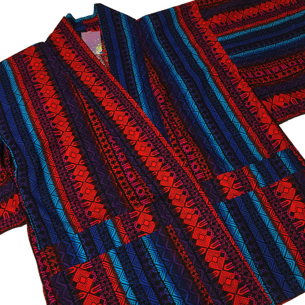 Red and Blue Pattern Haori