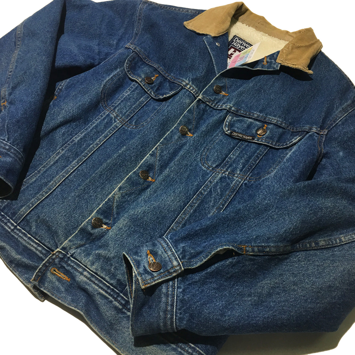 Denver Hayes: Denver Hayes Denim Jacket W/ Fur Inside