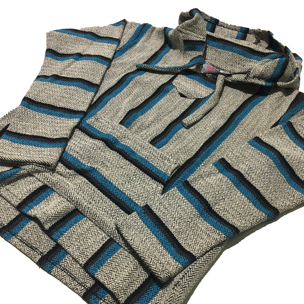 Original Senor Lopez Grey Blue Black Baja Sweater