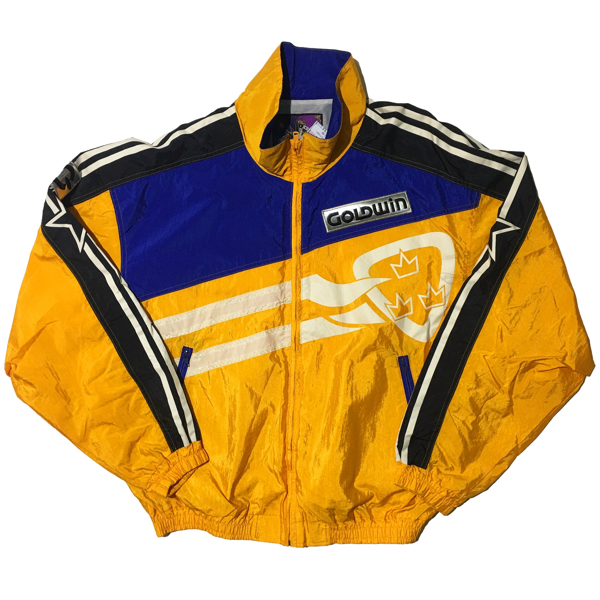 Goldwin Yellow Blue Black Stripe Jacket