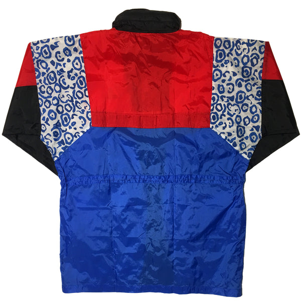 Schwarzenbach Red Black Blue Leopard Print Jacket