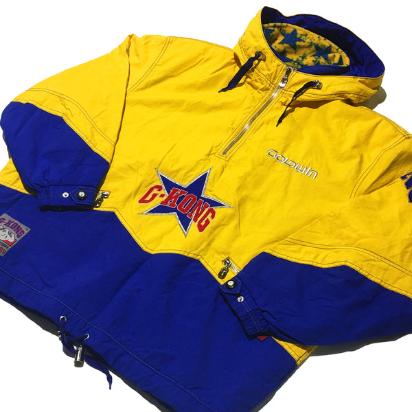 Goldwin G-KONG Yellow and Blue Half Zip Jacket